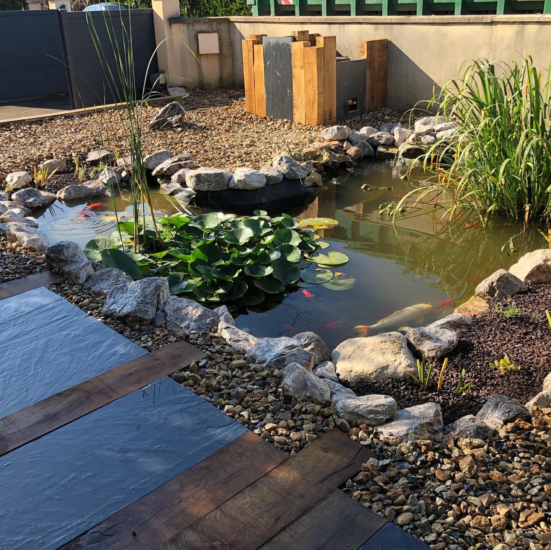 Paysagiste Jardinier Oise - Création bassin jardin - Gaudion Paysage